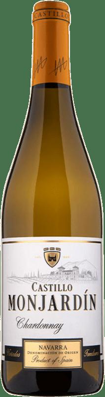 6,95 € Free Shipping | White wine Castillo de Monjardín D.O. Navarra Navarre Spain Chardonnay Bottle 75 cl