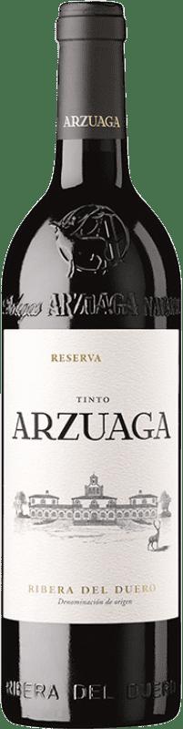39,95 € 免费送货 | 红酒 Arzuaga Reserva D.O. Ribera del Duero 卡斯蒂利亚莱昂 西班牙 瓶子 75 cl