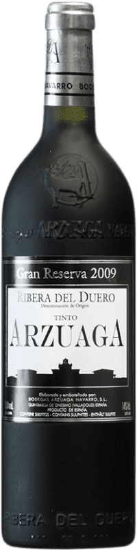 98,95 € Envoi gratuit | Vin rouge Arzuaga Gran Reserva 2009 D.O. Ribera del Duero Castille et Leon Espagne Tempranillo, Merlot, Cabernet Sauvignon Bouteille 75 cl
