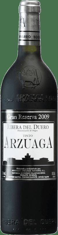 98,95 € Envío gratis | Vino tinto Arzuaga Gran Reserva 2009 D.O. Ribera del Duero Castilla y León España Tempranillo, Merlot, Cabernet Sauvignon Botella 75 cl