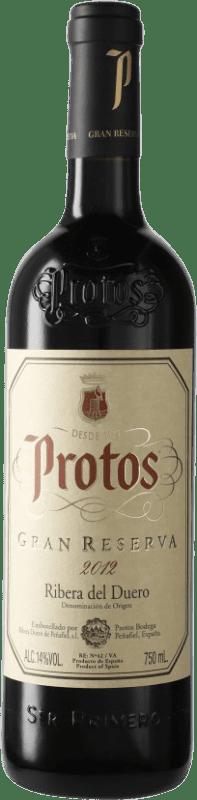39,95 € 免费送货 | 红酒 Protos Gran Reserva D.O. Ribera del Duero 卡斯蒂利亚莱昂 西班牙 Tempranillo 瓶子 75 cl
