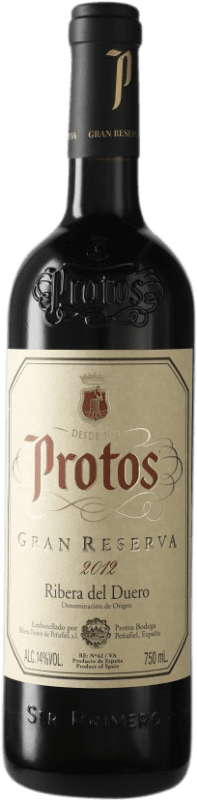 39,95 € Free Shipping | Red wine Protos Gran Reserva D.O. Ribera del Duero Castilla y León Spain Tempranillo Bottle 75 cl