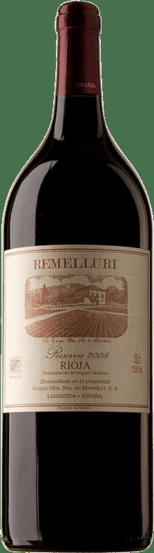 44,95 € Envío gratis | Vino tinto Ntra. Sra de Remelluri Reserva D.O.Ca. Rioja España Tempranillo, Garnacha, Graciano, Mazuelo, Viura Botella Mágnum 1,5 L