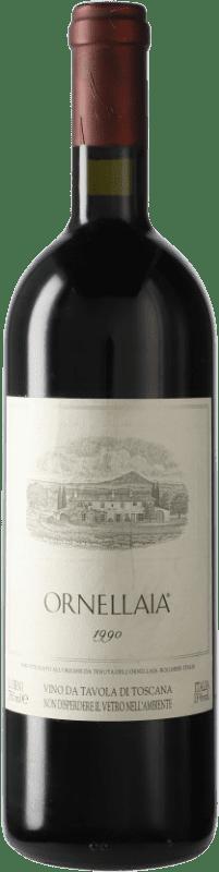 345,95 € Envío gratis | Vino tinto Ornellaia 1990 D.O.C. Bolgheri Italia Merlot, Cabernet Sauvignon, Cabernet Franc, Petit Verdot Botella 75 cl