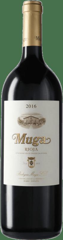 35,95 € Envío gratis | Vino tinto Muga Crianza D.O.Ca. Rioja España Botella Mágnum 1,5 L