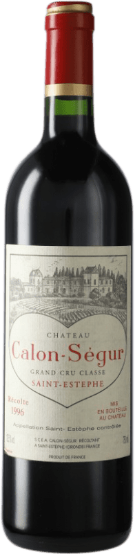 204,95 € Envoi gratuit | Vin rouge Château Calon Ségur 1996 A.O.C. Bordeaux Bordeaux France Merlot, Cabernet Sauvignon Bouteille 75 cl