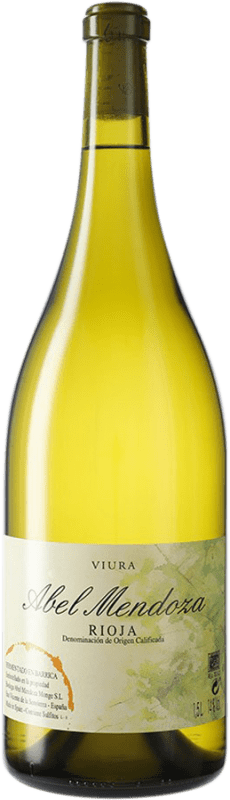 56,95 € Envoi gratuit | Vin blanc Abel Mendoza D.O.Ca. Rioja Espagne Viura Bouteille Magnum 1,5 L