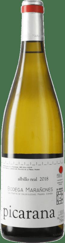 16,95 € Envío gratis | Vino blanco Marañones D.O. Vinos de Madrid Comunidad de Madrid España Picardan Botella 75 cl