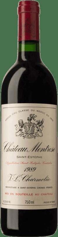 841,95 € Envío gratis | Vino tinto Château Montrose 1989 A.O.C. Bordeaux Burdeos Francia Merlot, Cabernet Sauvignon, Cabernet Franc, Petit Verdot Botella 75 cl