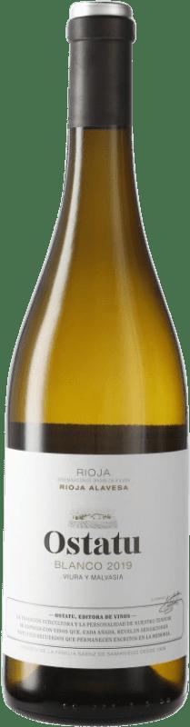 6,95 € 免费送货 | 白酒 Ostatu D.O.Ca. Rioja 西班牙 Tempranillo 瓶子 75 cl