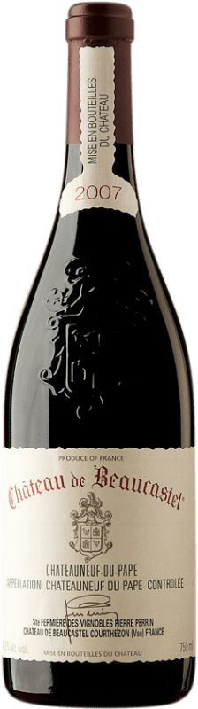 143,95 € Free Shipping | Red wine Château Beaucastel 2007 A.O.C. Châteauneuf-du-Pape France Syrah, Grenache, Mourvèdre Bottle 75 cl