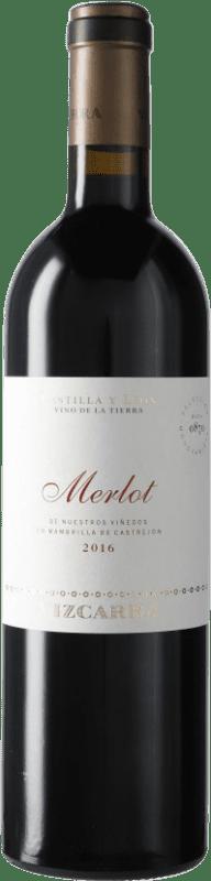 28,95 € Envío gratis | Vino tinto Vizcarra I.G.P. Vino de la Tierra de Castilla y León Castilla y León España Merlot Botella 75 cl