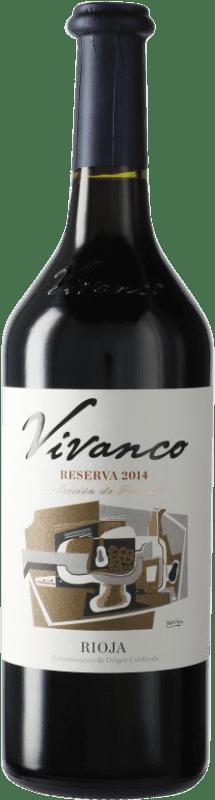 15,95 € 免费送货   红酒 Vivanco Reserva D.O.Ca. Rioja 西班牙 瓶子 75 cl