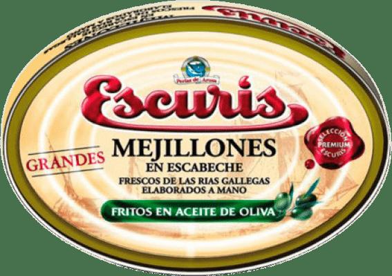 34,95 € | Conservas de Marisco Escurís Mejillón en Escabeche Spain 25/30 Pieces