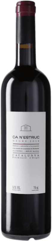 4,95 € Free Shipping | Red wine Ca N'Estruc Negre D.O. Catalunya Catalonia Spain Tempranillo, Syrah, Grenache Bottle 75 cl