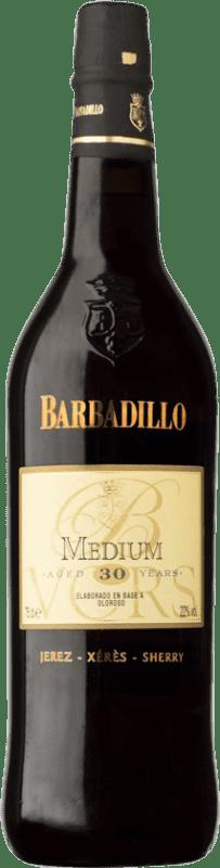 115,95 € 免费送货   强化酒 Barbadillo Oloroso Medium V.O.R.S. Very Old Rare Sherry D.O. Jerez-Xérès-Sherry 安达卢西亚 西班牙 Palomino Fino, Pedro Ximénez 瓶子 75 cl
