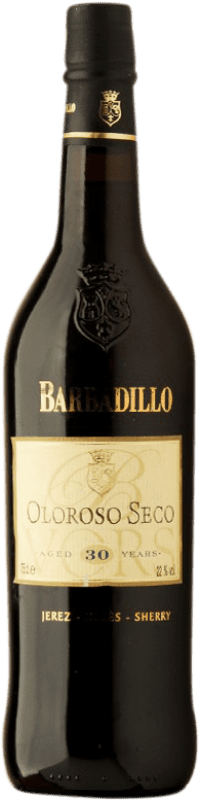 113,95 € Free Shipping | Fortified wine Barbadillo Oloroso V.O.R.S. Very Old Rare Sherry Dry D.O. Jerez-Xérès-Sherry Andalusia Spain Palomino Fino Bottle 75 cl