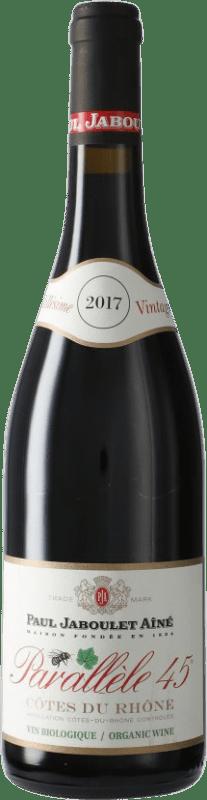 9,95 € Envío gratis | Vino tinto Jaboulet Aîné Parallèle 45 A.O.C. Côtes du Rhône Francia Syrah, Garnacha Botella 75 cl
