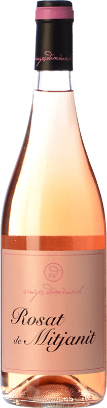 13,95 € Free Shipping | Rosé wine Domènech Rosat de Mitjanit D.O. Montsant Spain Grenache Hairy Bottle 75 cl