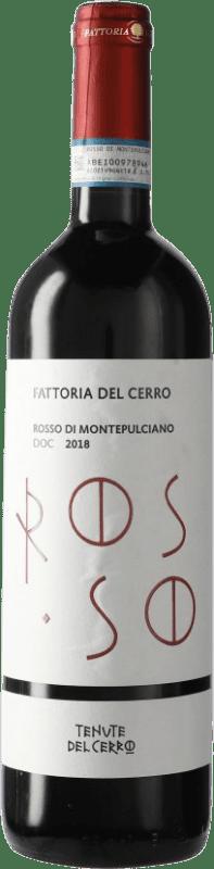 14,95 € Free Shipping | Red wine Fattoria del Cerro Rosso D.O.C.G. Vino Nobile di Montepulciano Tuscany Italy Sangiovese, Mammolo Bottle 75 cl