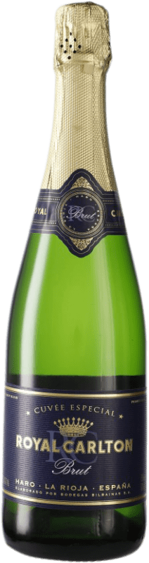 9,95 € | White sparkling Bodegas Bilbaínas Royal Carlton Brut D.O. Cava Spain Viura Bottle 75 cl