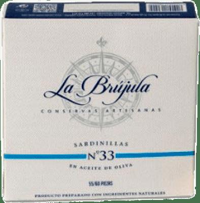 11,95 € Free Shipping | Conservas de Pescado La Brújula Sardinillas Spain 55/60 Pieces