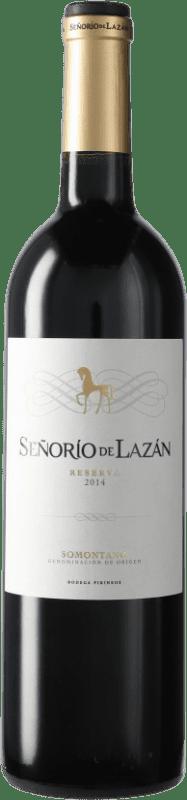9,95 € 免费送货 | 红酒 Pirineos Señorío de Lazán Reserva D.O. Somontano 加泰罗尼亚 西班牙 瓶子 75 cl