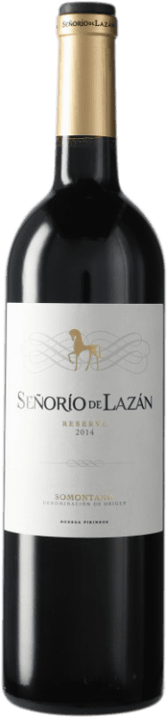 9,95 € Envío gratis | Vino tinto Pirineos Señorío de Lazán Reserva D.O. Somontano Cataluña España Botella 75 cl