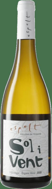 9,95 € | White wine Espelt Sol i Vent Blanc D.O. Empordà Catalonia Spain Syrah, Grenache, Monastrell Bottle 75 cl