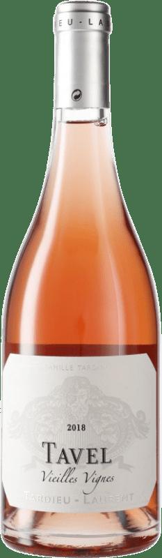 13,95 € Free Shipping | Rosé wine Tardieu-Laurent Tavel Vieilles Vignes A.O.C. Côtes du Rhône France Syrah, Grenache, Cinsault Bottle 75 cl