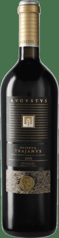 21,95 € Envío gratis | Vino tinto Augustus Trajanus D.O. Penedès Cataluña España Botella 75 cl
