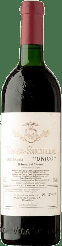 693,95 € | Red wine Vega Sicilia Único Gran Reserva 1983 D.O. Ribera del Duero Castilla y León Spain Tempranillo, Merlot, Cabernet Sauvignon Bottle 75 cl