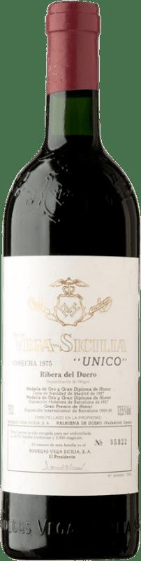 643,95 € | Red wine Vega Sicilia Único Gran Reserva 1975 D.O. Ribera del Duero Castilla y León Spain Tempranillo, Merlot, Cabernet Sauvignon Bottle 75 cl