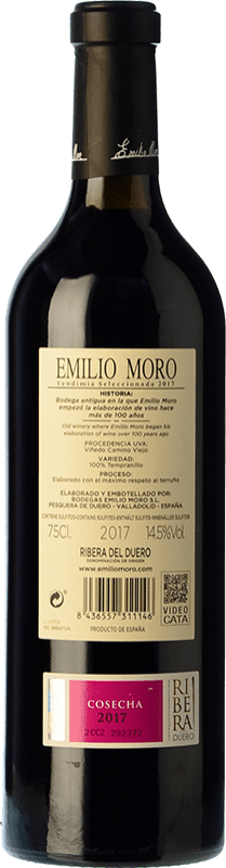 26,95 € Free Shipping | Red wine Emilio Moro Vendimia Seleccionada D.O. Ribera del Duero Castilla y León Spain Tempranillo Bottle 75 cl