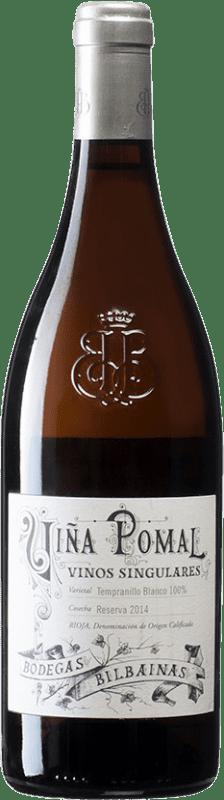 33,95 € 免费送货 | 白酒 Bodegas Bilbaínas Viña Pomal Reserva D.O.Ca. Rioja 西班牙 Tempranillo White 瓶子 75 cl