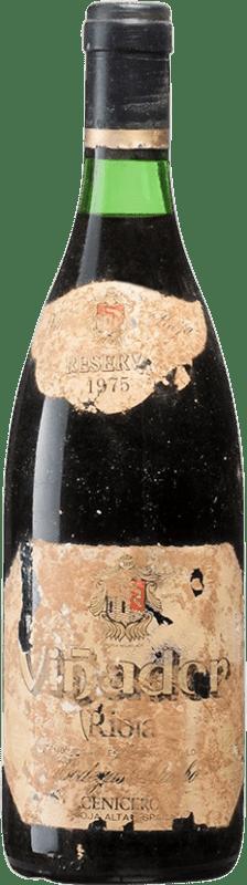 42,95 € Free Shipping | Red wine Bodegas Bilbaínas Viña Zaco Viñador Reserva D.O.Ca. Rioja Spain Tempranillo Bottle 75 cl